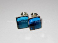 AG 925 mini Chessboard SWAROVSKI Bermuda Blue 8mm